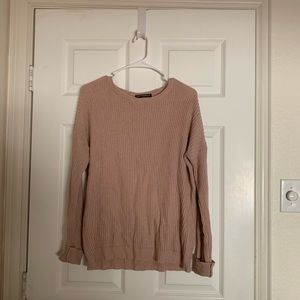 Pink Brandy Melville Knitted Sweater - One Size